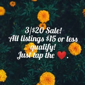 ❤3/$20 Bundle Sale!❤